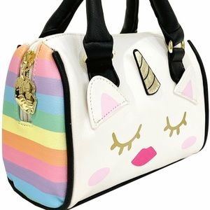 LBHARLE Rainbow Unicorn Mini Satchel Bag